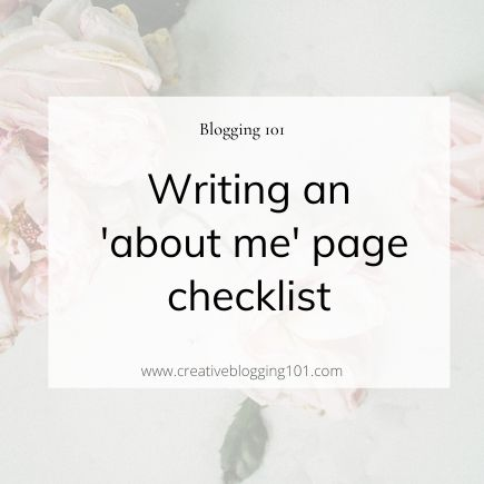 creating an amazing about me page checklist
