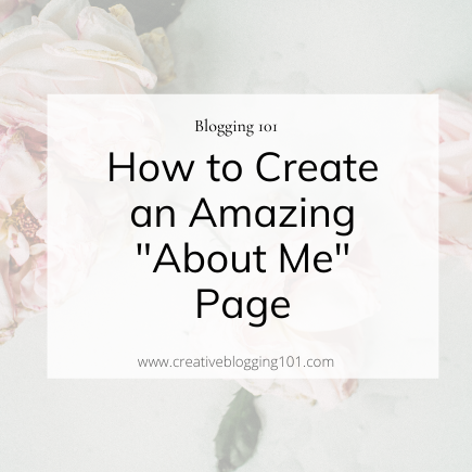 creating an amazing about me page