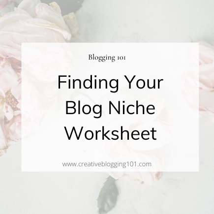 finding your niche worksheet