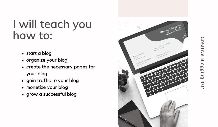 about page -  what I will teach you
