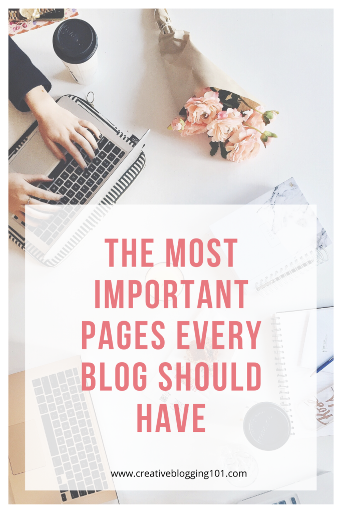 Important Pages Every Blog Needs