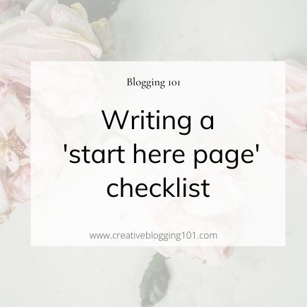 how to write a start here page