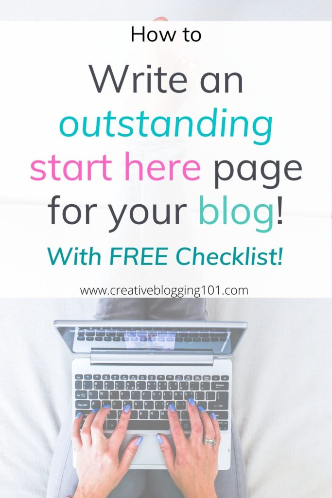 how to write a start here page pin