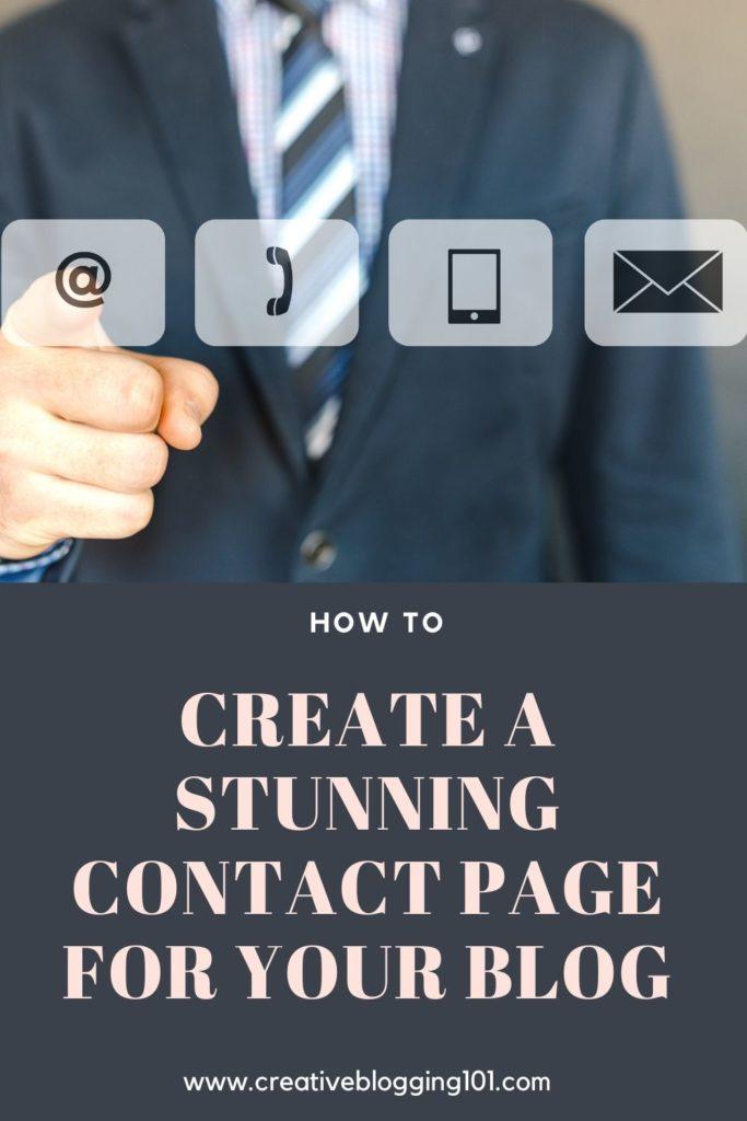 contact page pin