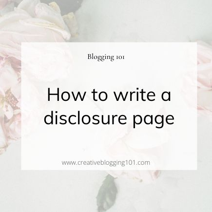 disclosure page