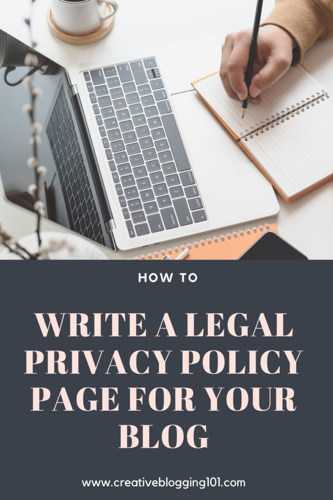 how to write a legal privacy policy page