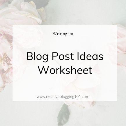 blog post ideas worksheet