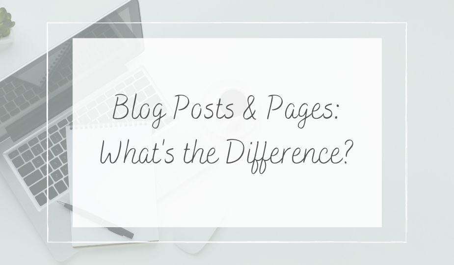 blog posts and pages