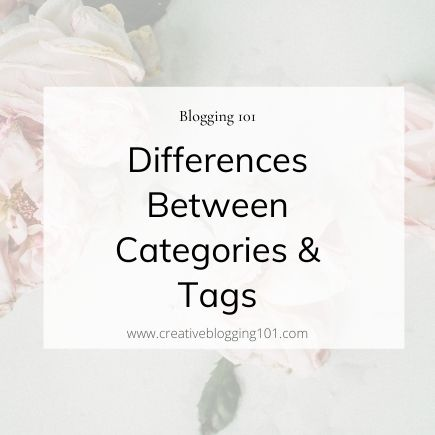 difference between categories and tags