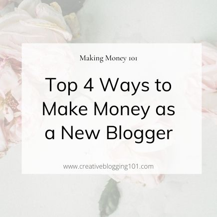 make money as a new blogger