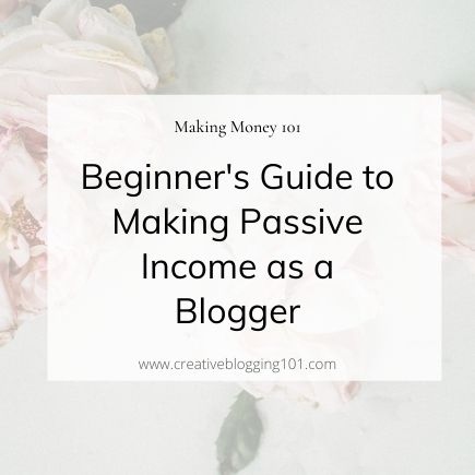 earning passive income as a blogger